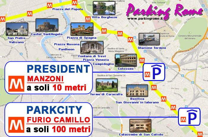 mappa parcheggi roma centro