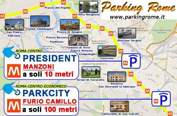 mappa parcheggi roma centro vicino la metro