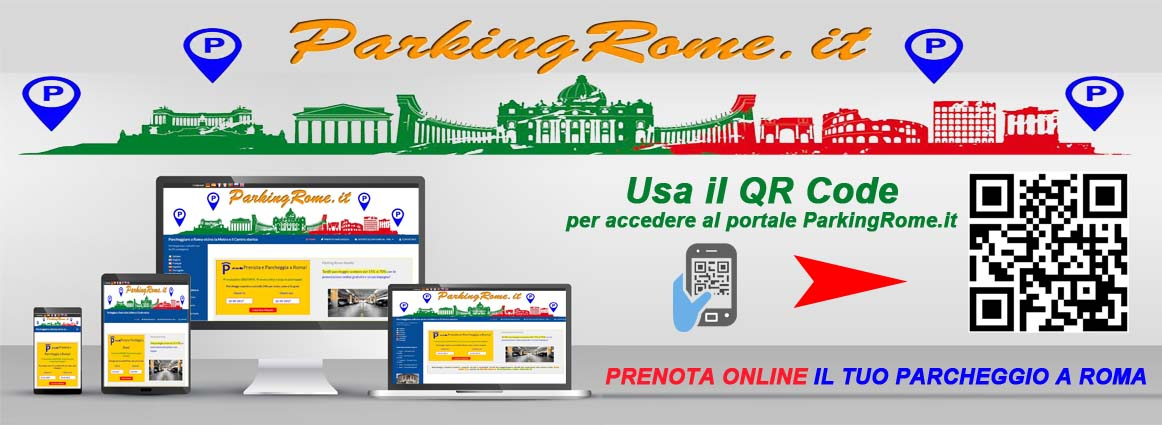parking rome qrcode computer, laptop, smartphone and tablet