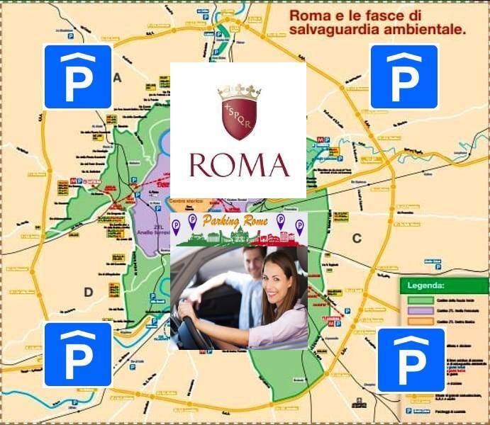mappa fascia verde roma parcheggio